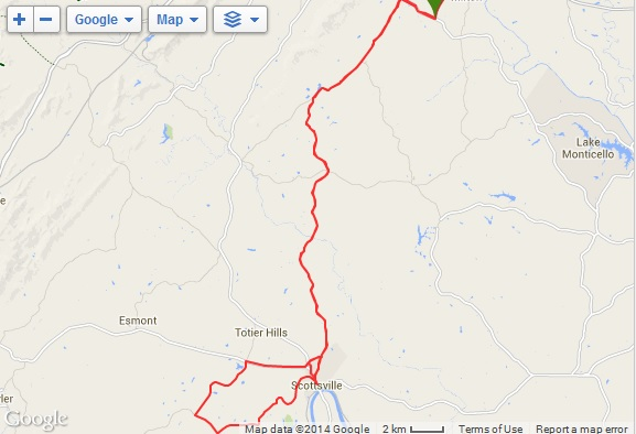 scottsville bike ride