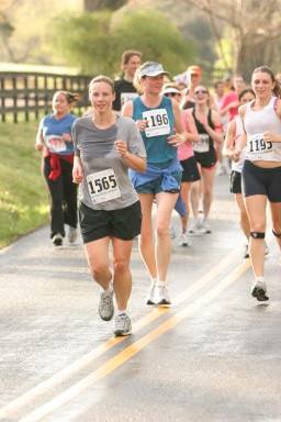 My First half marathon, cotton t-shirt and all (Charlottesville Half Marathon, 2007)
