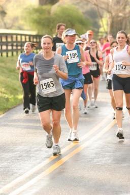 My First half marathon, cotton t-shirt and all (Charlottesville Half Marathon, 2007)