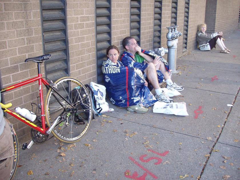 After our first marathon (Marine Corps 2007)